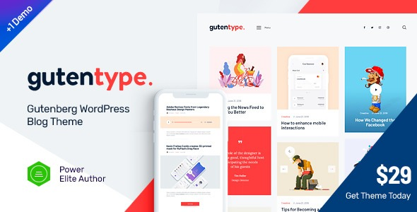 Download free Gutentype WordPress theme v1.8.0